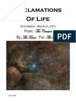 Acclamations of Life 1st Edition
