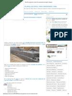 Diseño de Gaviones y Muro de Contención (Hormigón Ciclópeo)