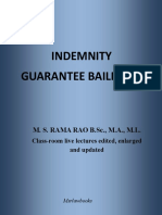 Indemnity Guarantee Bailment - Smart Notes for Law, Judicial Services  And UPSC.