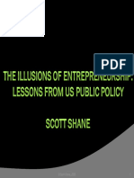 Shane Ppt the Illusion of Entrepreneurship - Lessons From US Public Policy