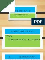 CONSTRUCCION CLASE  N°  3