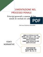 La Documentazione Nel Processo Penale