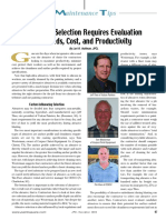 Abrasive Selection Requires Evaluation of Needs Cost and Productivity
