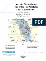 Boletin Nº 018- Prospeccion Geoquimica Regional Entre Los Paralelos 9 y 10- Latitud Sur