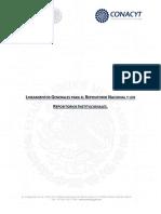 Lineamientos Generales Para El Repositorio Nacional y Los Repositorios Institucionales