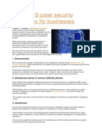 The Top 10 Cyber Security Challenges for Businesses