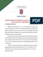 Sports Participation Survey Press Release