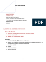 5. Estructura de Informe