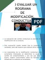 Cómo Evaluar Un Programa de Modificación Conductual