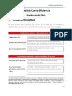 Formato Analisis Costo Eficiencia