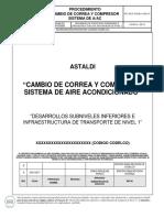 Procedimiento Cambio de Correa y Compresor de Sistema de Aire Acondicionado