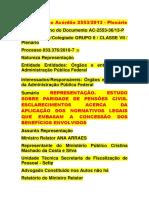 Tcu - Ac 2553 - 2013 - Plenário - Paridade Pensão.