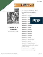 LETANÍAS DE LA HUMILDAD