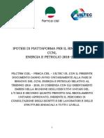 Ipotesi Piattaforma CCNL Energia