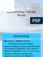 Epidemiology and the Nurse