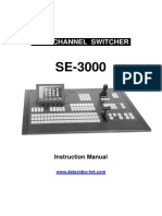 Datavideo SE 3000 Manual