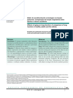 Efeito Cronologico Na Função Pulmonar