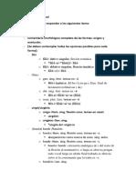 Ejercicios Morfología Nominal