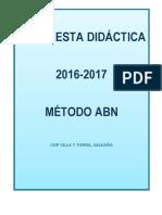 Propuesta Didáctica ABN