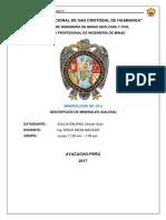 DESCRIPCIÓN DE MINERAL PbS