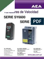 Variadores de velocidad SERIE SY6600/SY8000
