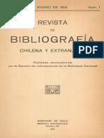 Revista de Bibliografía Chilena y Extranjera