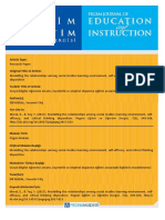 2017 Modelling the Relationships Among Social Studies Learning Environment, Self-efficacy, And Critical Thinking Disposition