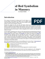 Blue and Red Symbolism in Freemasonary