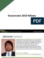 Grassroutes 2010 Fellows