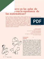 ¿Que Ocurre en Las Aulas de Primaria Con La Ensenanza de Las Matematicas