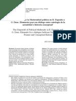 El Dispositivo de La Modernidad Politica en R. Esposito y G. Duso