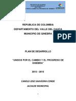 Ginebra Valle Del Cauca Pd 2012 - 2015