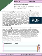 4to Grado - Español - Textos Expositivos