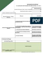 Declaracion de Metodo Azotea Unitanques Instalacion de Caseta de Panel. Junio 2017