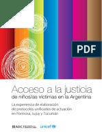 UNICEF Argentina PROTOCOLOS Unificados InformeExperiencias
