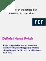 Efektifitas Dan Efisiensi Manajemen Laboratorium