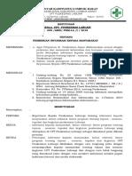 322061682 Sk Tentang Pemberian Informasi Kepada Masyarakat Lintas Sektor Lintas Program Tentang Tujuan Sasaran Tupoksi Dan Kegiatan Puskesmas