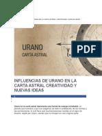 Influencias de Urano en La Carta Astral Creatividad y Nuevas Ideas