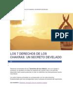 Los 7 Derechos de Los Chakras