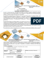 Guía de actividades y rúbrica de evaluación  - Fase 3 - Problematización