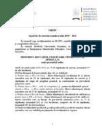 ORDIN Structura an Scolar 2010-2011