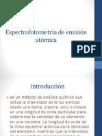 Espectrofotometría de Emisión Atómica