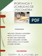 Diapositivas de La Psicometria
