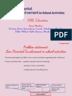 Project M13 Parent Involvement in School Activities