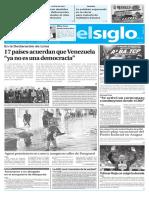 Edicion Impresa El Siglo 08-08-2017