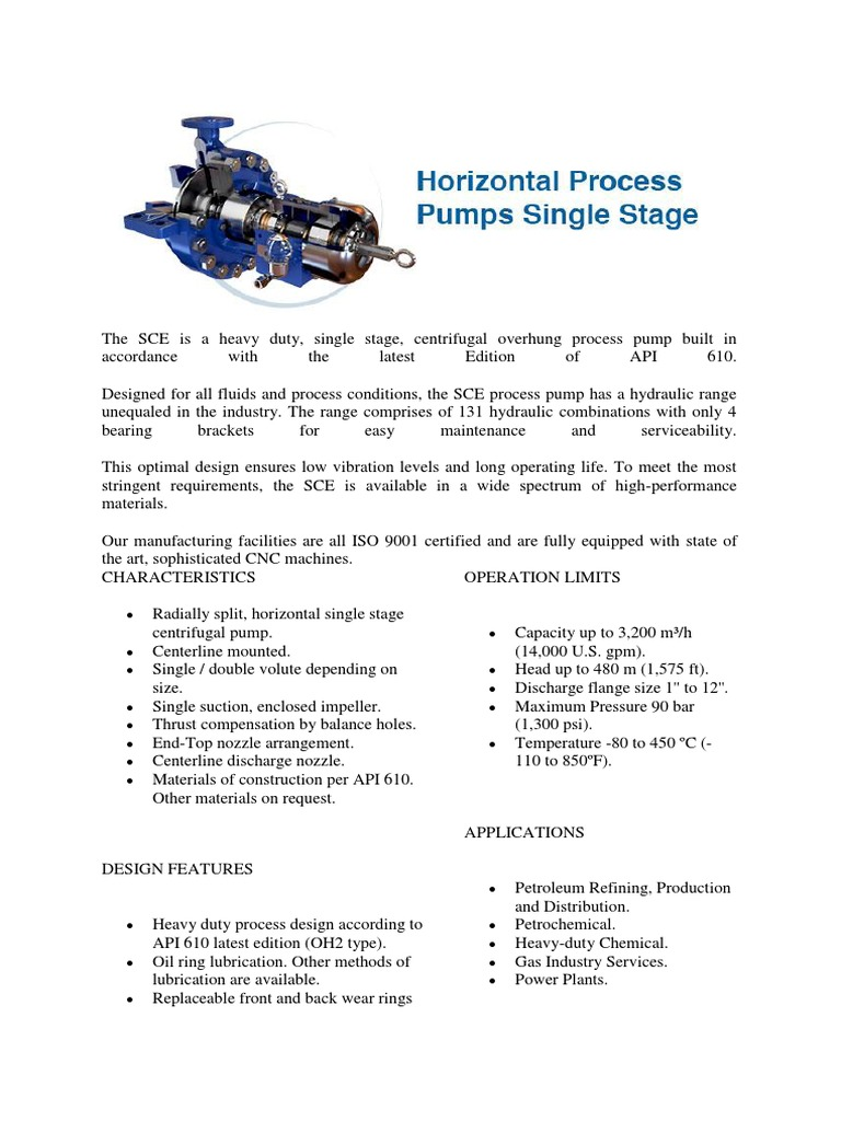 Centrifugal pumps for petroleum, heavy duty chemical, and gas industry services
