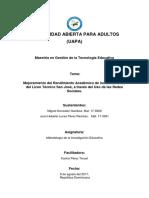 Objetivos y Diseño Metodologico
