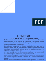 Altimetria, Curvas de Nivel, Perfiles