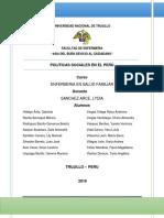 Politicas Sociales en El Perú