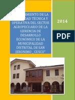 MEJORAMIENTO DE LA CAPACIDAD TECNICA OPERATIVA DEL SECTOR AGROPECUARIO DE LA GERENCIA DE DESARROLLO ECONOMICO DE SAN JERONIMO